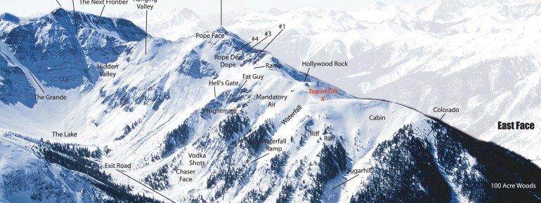 Pistenplan Silverton Mountain