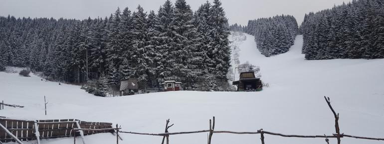 Blick ins Skigebiet in Schulenberg