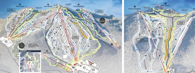 Pistenplan Ski Bromont