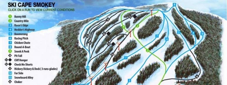 Pistenplan Ski Cape Smokey