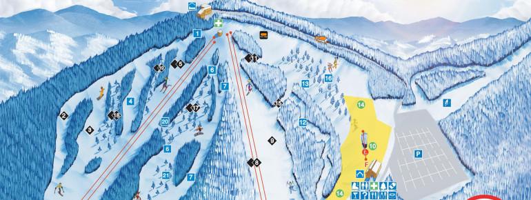 Pistenplan Ski Mont Gabriel