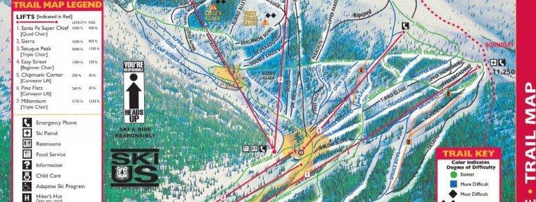Pistenplan Ski Santa Fe Resort