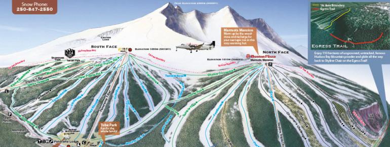 Pistenplan Hudson Bay Mountain - Ski Smithers