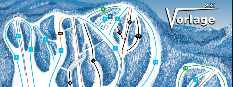 Pistenplan Ski Vorlage