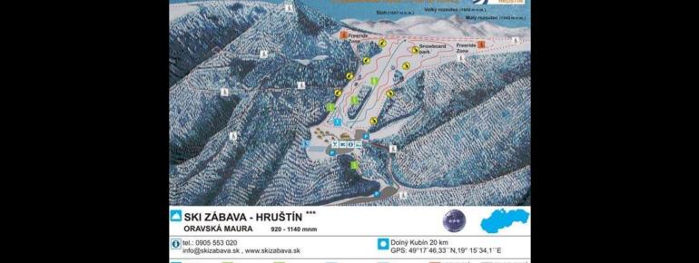 Pistenplan Ski Zabava Hrustin