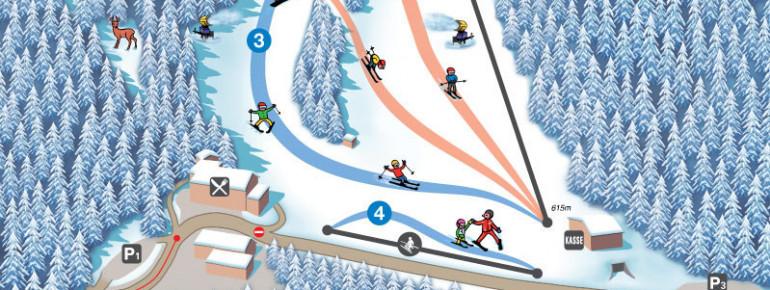 Pistenplan Skilift Eberschwang