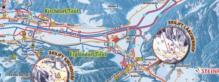 Pistenplan Skilift Lärchenhof Erpfendorf
