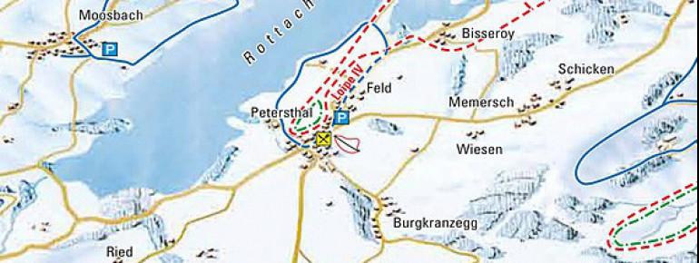 Pistenplan Skilift Petersthal in Oy-Mittelberg
