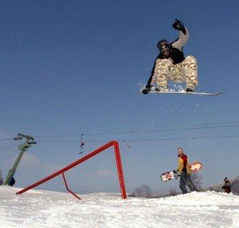 Auch Snowboarder haben hier Spaß!