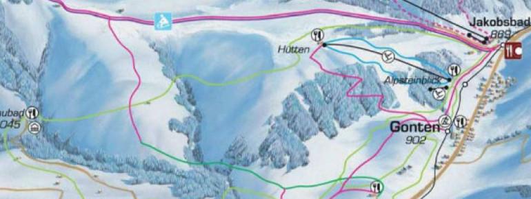 Pistenplan Skilifte Alpsteinblick Gonten