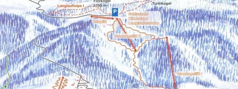 Pistenplan Skilifte Puchenstuben