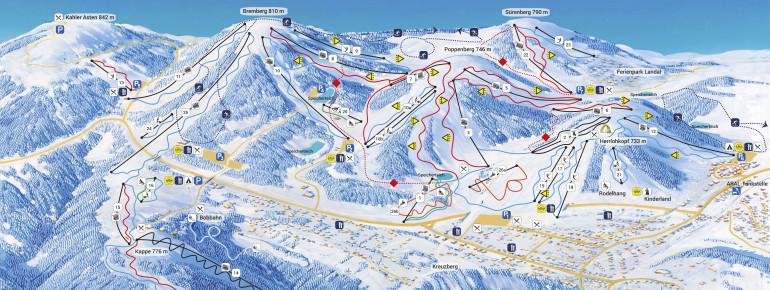 Pistenplan Skiliftkarussell Winterberg
