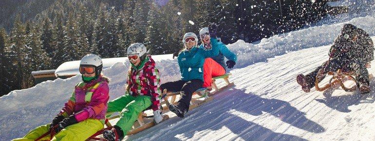 Rodelspaß in der SkiWelt Söll