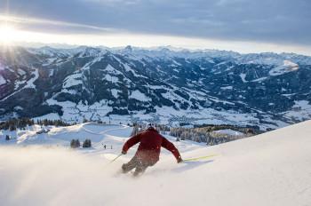 Skifahren mit 360 Grad Panoramablick in der SkiWelt Wilder Kaiser