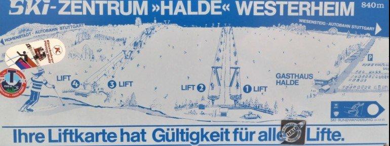Pistenplan Skizentrum Halde Westerheim