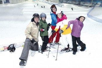 Besonders Familien erfreuen sich an einem Tagesausflug zum Snow Dome