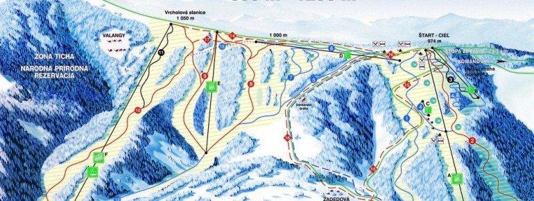 Pistenplan Snow Paradise Velka Raca