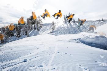 Im Teilgebiet St. Johann gibt es auch einen sehenswerten Snowpark.