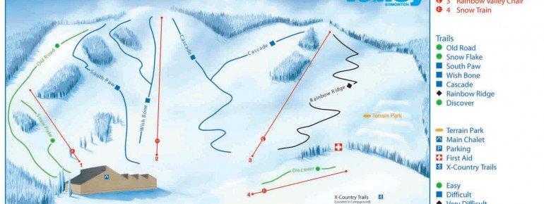 Pistenplan Snow Valley Alberta