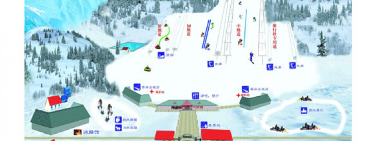Pistenplan Snow World Ski Park Xueshijie – Peking