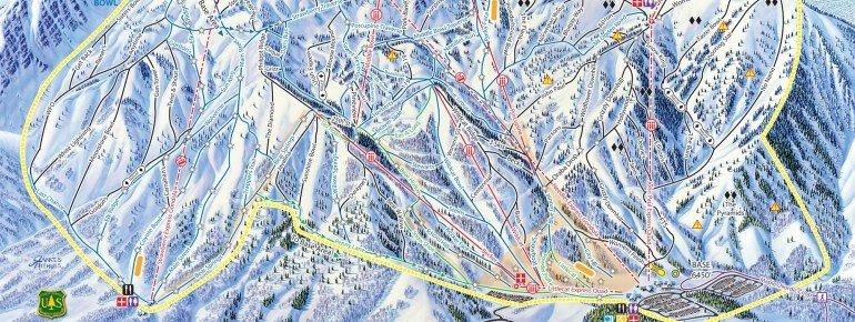Pistenplan Snowbasin