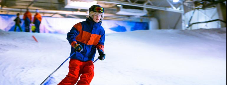 300 Meter Piste stehen Wintersportlern in der Skihalle zur Verfügung.