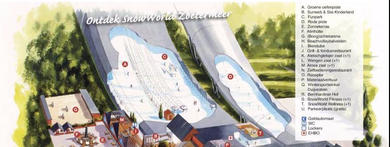Pistenplan Snowworld Zoetermeer