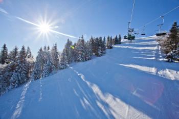 Im Skigebiet Soriška Planina erwarten dich 9 km gut präparierte Pisten.
