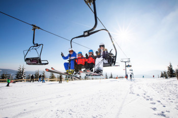 Im Skigebiet gibt es Pisten für jede Könnerstufe.