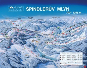 Pistenplan Špindlerův Mlýn (Spindlermühle)