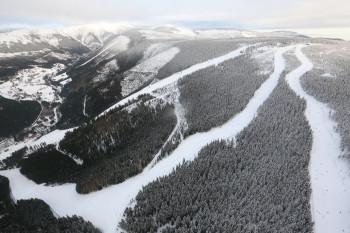 Das Teilgebiet Svatý Petr ist das meist besuchte Skigebiet Tschechiens