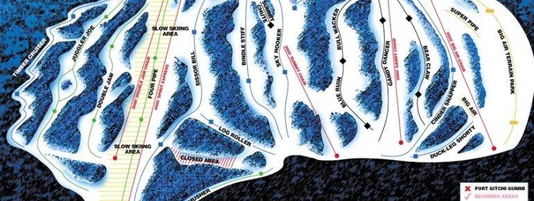 Pistenplan Spirit Mountain