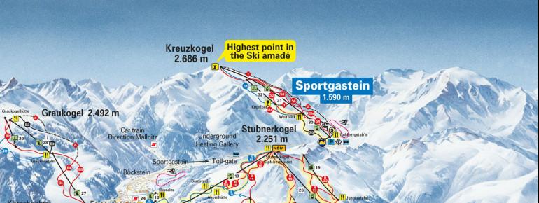 Pistenplan Sportgastein