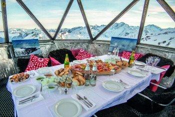 Gourmetfrühstück mit Gipfelblick