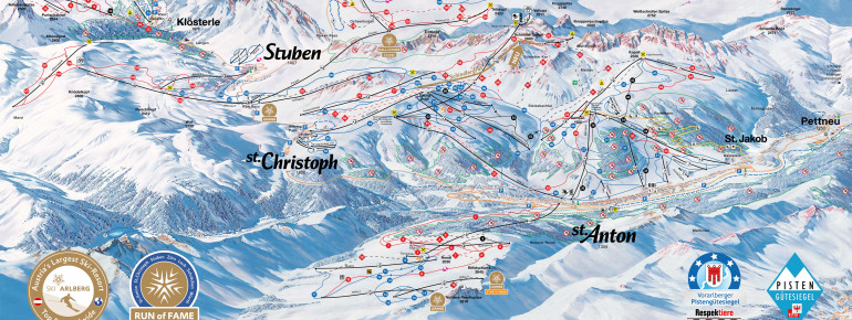 Pistenplan St. Anton mit Ski Arlberg