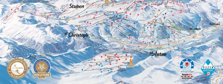 Pistenplan St. Anton (Ski Arlberg)