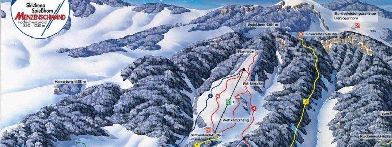 Pistenplan Menzenschwand - Skiarena Spießhorn