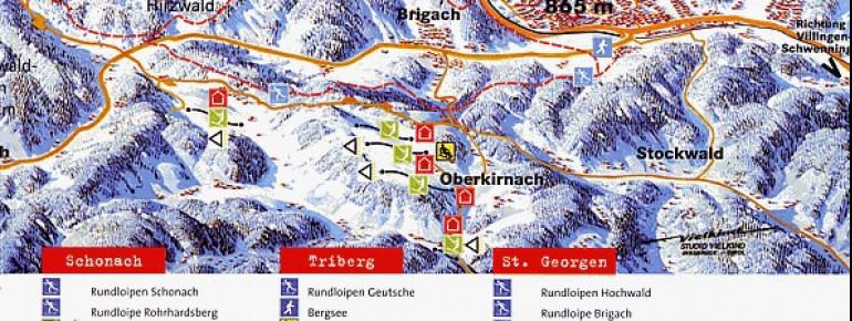 Pistenplan Brigachlift – Oberkirnach (St. Georgen)