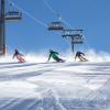 Die breiten Pisten freuen die Skifahrer.