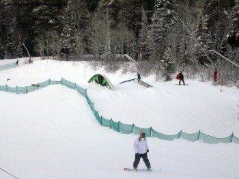 Kleiner Funpark für die leichteren Sprünge!