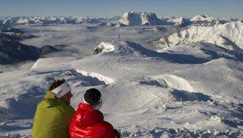 Alpenpanorama von der Steinplatte aus
