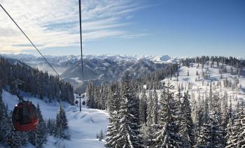 Skigebiet Steinplatte Winklmooalm im 3 Ländereck Tirol, Salzburg, Bayern