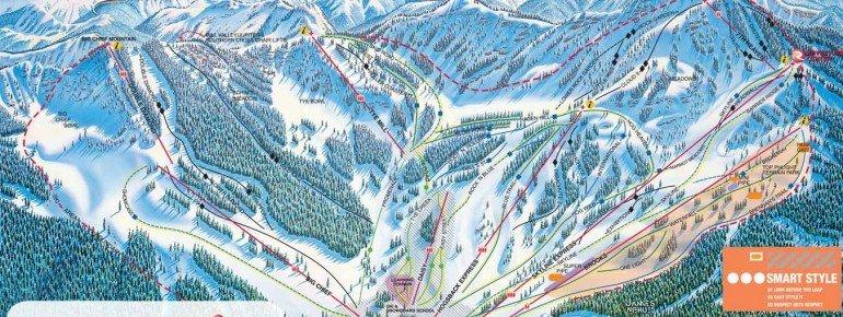 Pistenplan Stevens Pass Ski Area