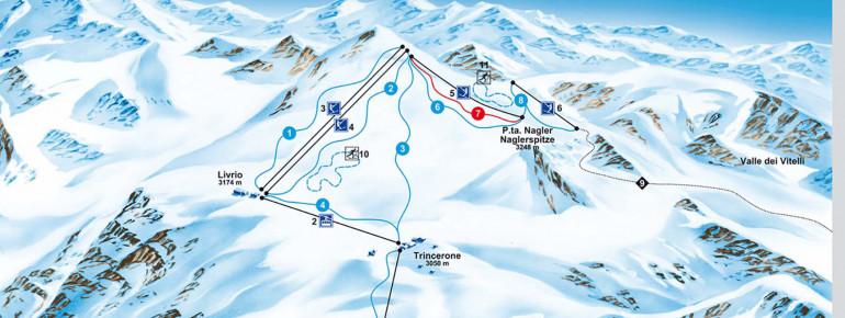 Pistenplan Stilfserjoch - Passo Stelvio