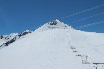 Höchster Punkt des Skigebiets ist die 3.450 Meter hohe Geisterspitze