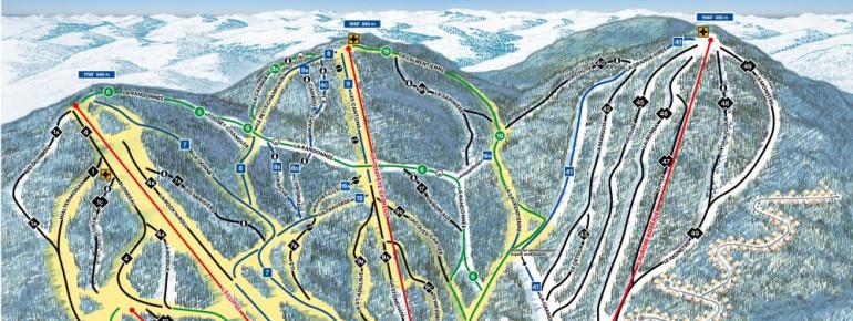 Pistenplan Stoneham Ski Resort