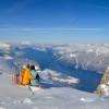 Traumhafte Aussicht vom Fronalpstock Gipfel auf den Vierwaldstättersee und die umliegende Bergwelt.