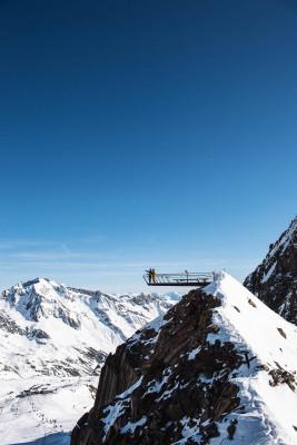 Die Aussichtsplattform Top of Tyrol befindet sich auf einer Höhe von 3.210m.