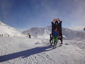 Am höchsten Punkt im Skigebiet, dem Top of Tyrol auf 3210m Seehöhe