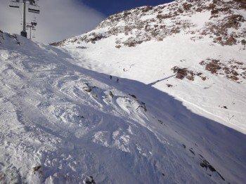 """Nur für gute Skifahrer: Die schwarze Piste """"Daunhill"""" (Nr. 22)"""